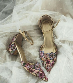 shoes, girl and floral
