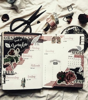 stationery, weekly spread and bullet journal