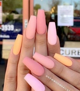 colorful, nails and pink