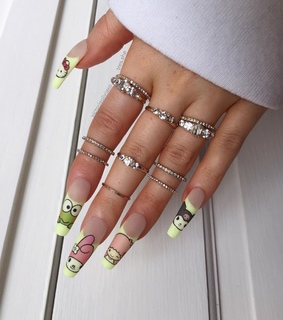nails, rings and matte