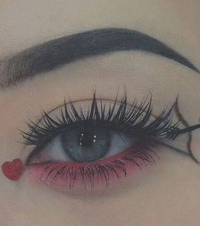 makeup, pink and heart