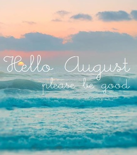 welcome, hello and August
