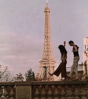 couple, photography and eiffel tower