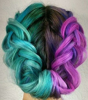creative, braids and colorful