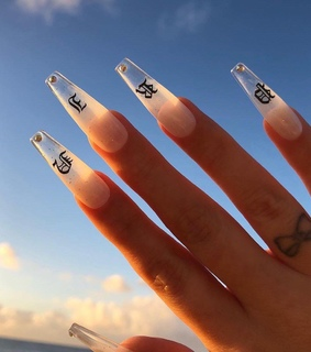 cyber ghetto, nails and girl