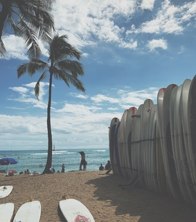 hawaii, surfboards and travel
