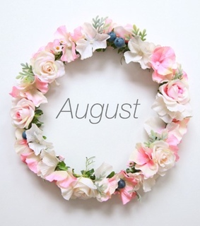 welcome, summer and August