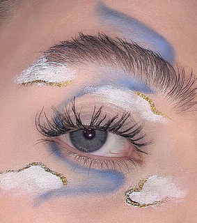 make up, golden and cute