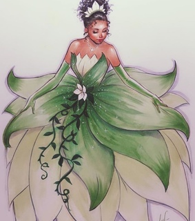tiana, film and drawing