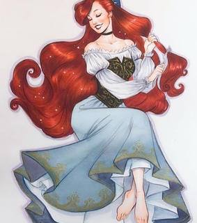 ariel, drawing and art