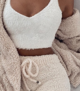 white, tan and cosy