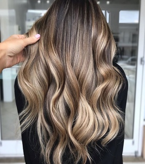 stylish, caramel and balayage