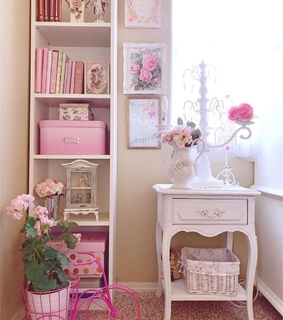home, pink and decor