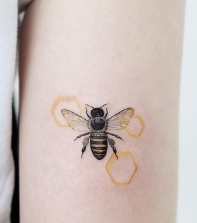 honey, yellow and ink