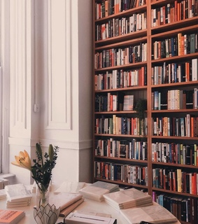 books, home and library