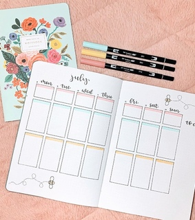 notes, writing and planner