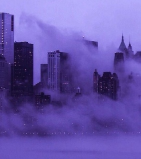 city, lilac and dust