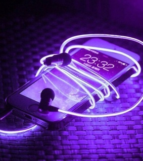 iphone, neon and night