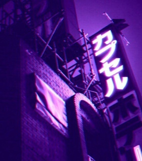 dark, purple and neon