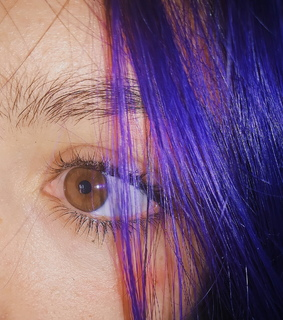 purple aesthetic, eyes and tumblr photo