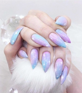 beauty, nails design and purple nails
