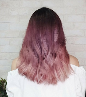 pink, beautiful and hair