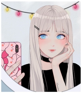 animegirl, make up and iphone