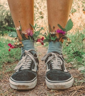 shoes, flowers and pretty
