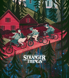 illustration and stranger things
