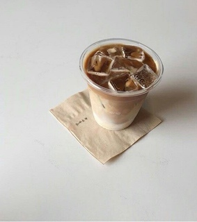 ice, brown and latte