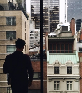 guy, life and apartment