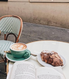 good morning, coffee and book