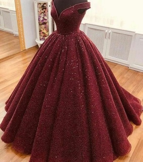 dramatic, dress and red