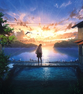 anime, beautiful and background