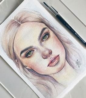 creative, watercolor and pencil