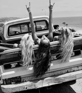black and white, bff and Road Trip