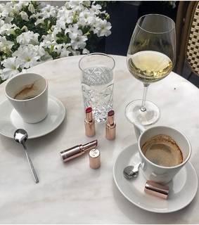 lipstick, luxury and coffee