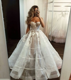 dress, bridal dress and bridal gown