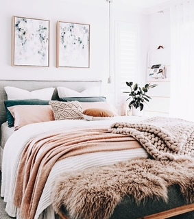 home, house and bed