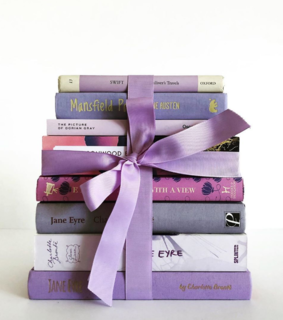 stack, jane austent and lavender
