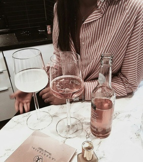 drink, wineglass and rose