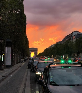 on the road, alternative and sunset
