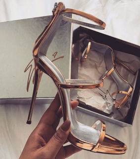 rose gold, heels and gold