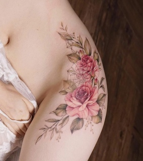 tattoo, pink and tatuagem