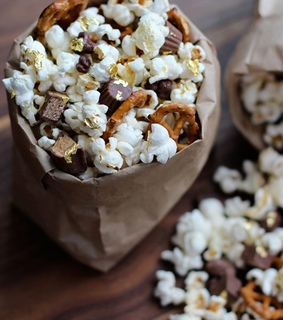 food, popcorn and snacks