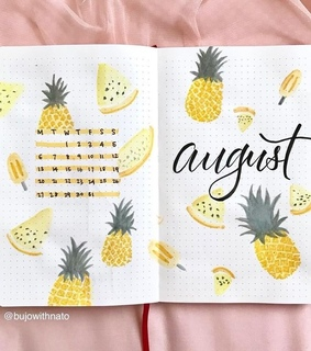days, pineapple and planner