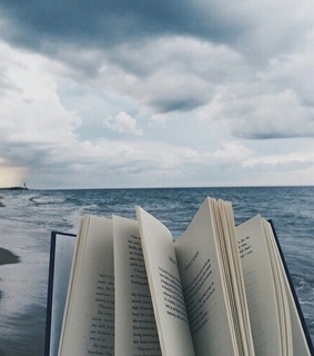 clouds, reading and book