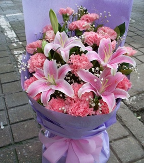 florist, pink and lily