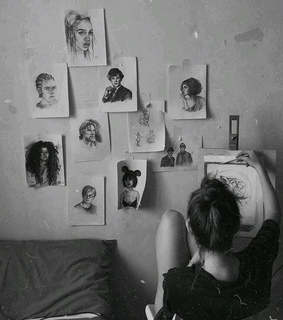 black and white, art and model