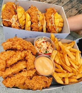 food, Chicken and fast food